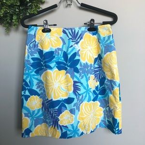 Lily Pulitzer Hawaiian floral skirt   Sz 4